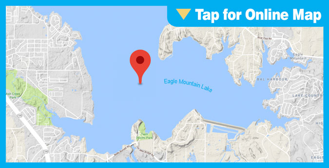 Eagle Mountain Lake HOTSPOT: Twin Points Humps