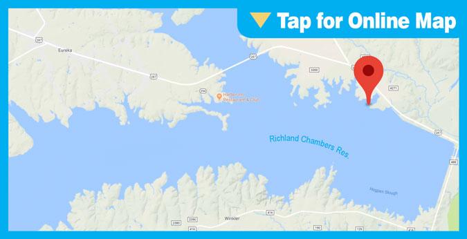 Richland Chambers Lake HOTSPOT: Main Lake