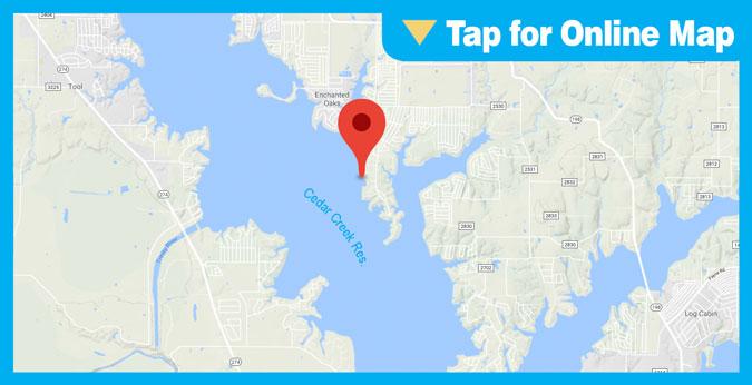 Cedar Creek Lake HOTSPOT: Main Lake Docks