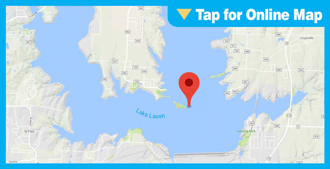 Lake Lavon HOTSPOT: Main Lake Points