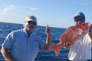 red snapped caught yamaha helm master