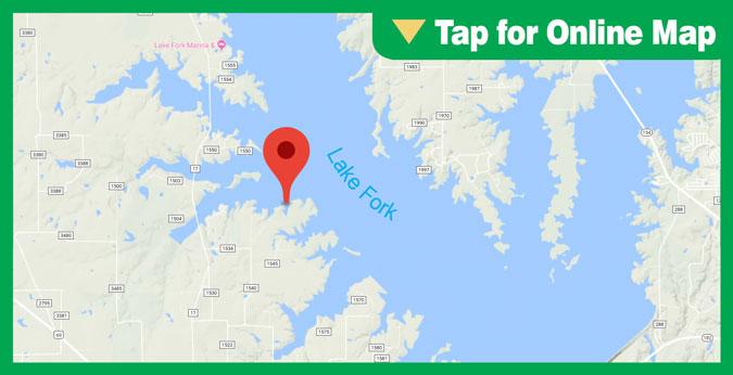 Lake Fork HOTSPOT: Main Lake Humps and Points