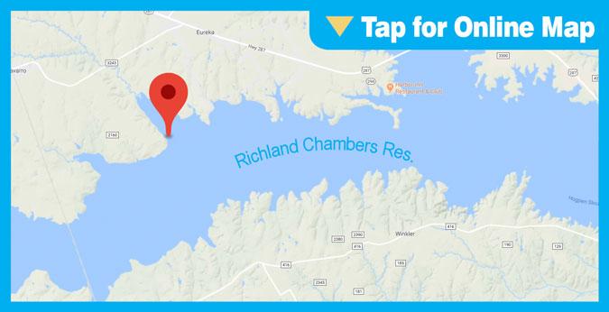 Richland Chambers Lake HOTSPOT: Richland Creek Channel Near Crab Creek