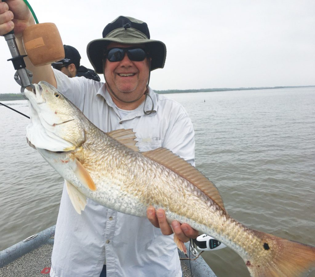 Earl Touchstone caught this 30-inch red while fishing on Matagorda Bay.