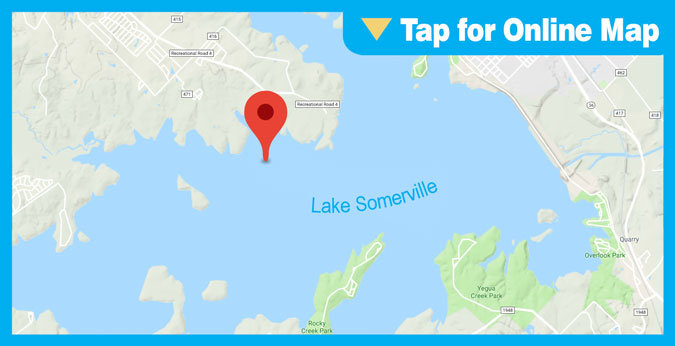 Lake Somerville HOTSPOT: Big Creek Park Shoreline