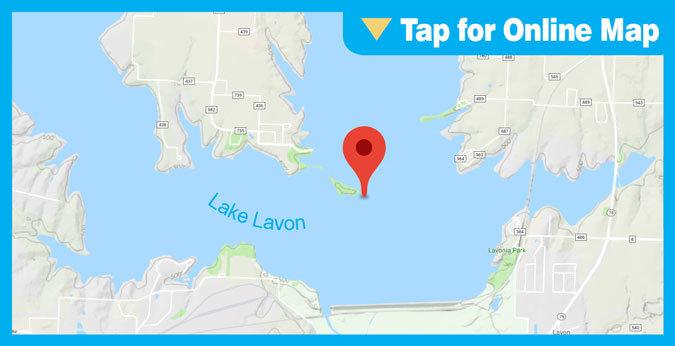 Lake Lavon HOTSPOT: Island and Dam Area