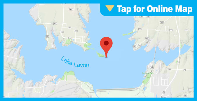 Lake Lavon HOTSPOT: Island and Dam Area
