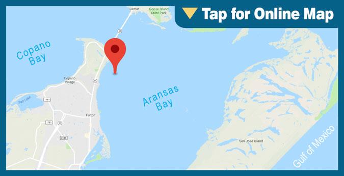 Aransas Bay: Bay Oil Wells and Pads