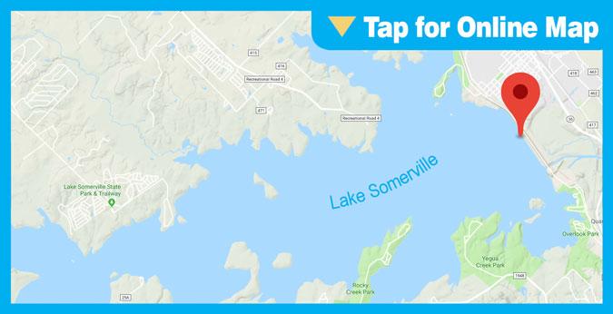 Somerville Lake: Rocks on Left End of the Dam