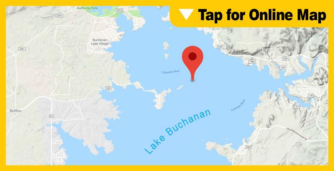 Lake Buchanan: Shaw Island and Mid-Lake Area