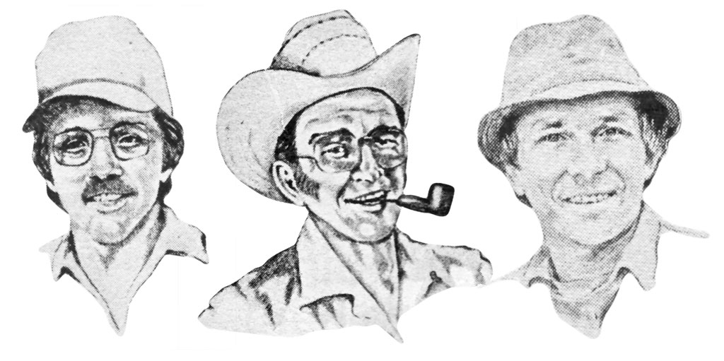 Early column headshots of Spivey, Tinsley and Doggett
