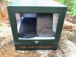 The Survival Belt comes in an attractive box.