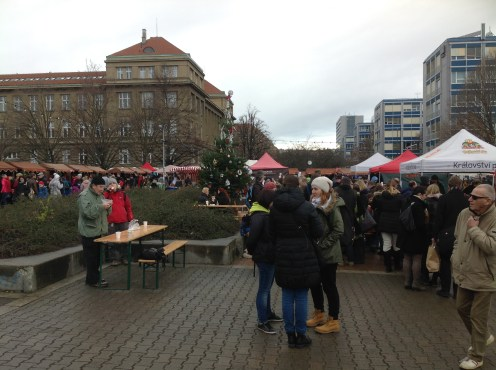 The Christmas farmers market
