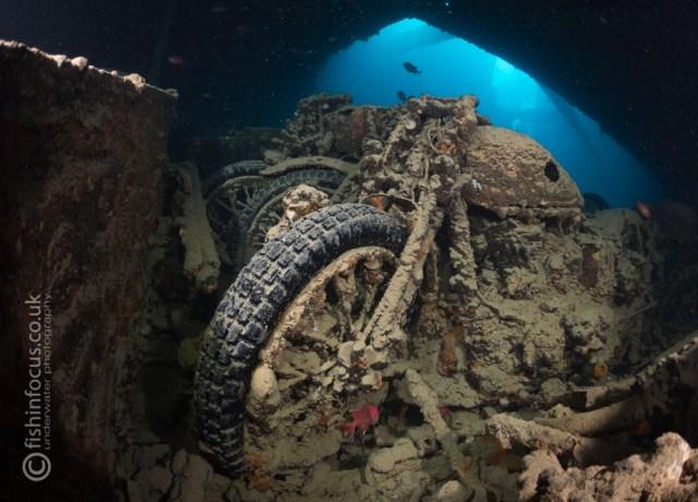 Mario Vitalini fishinfocus Thistlegorm motorbike Red Sea Egypt