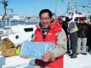 第7回アングル探見丸マス釣り大会 水交社特別賞 お茶