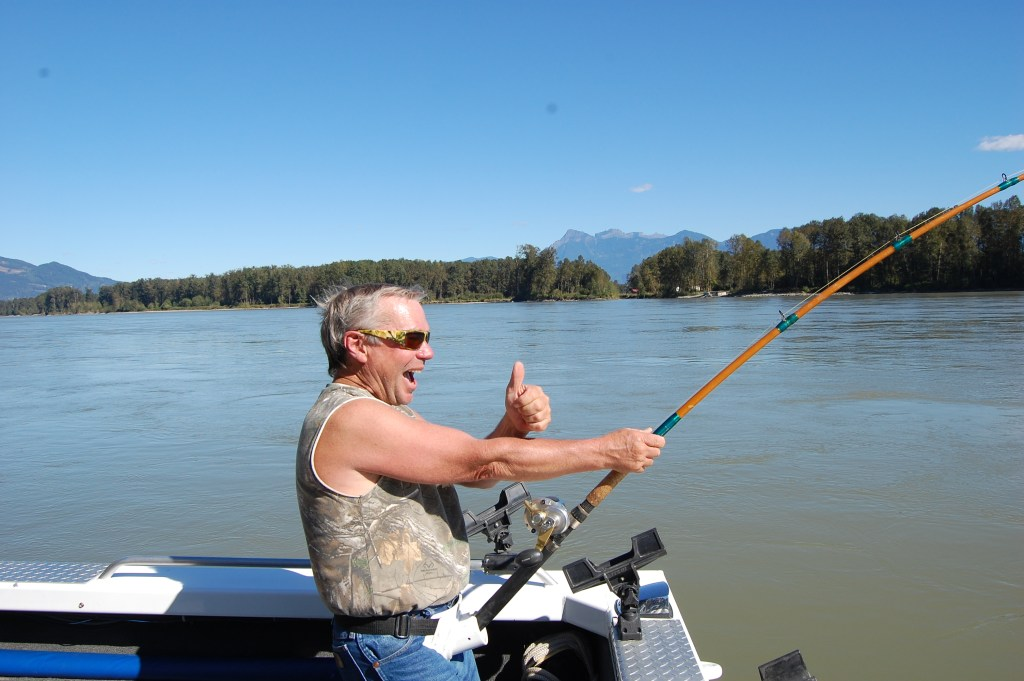 A happy customer on a fishing charter