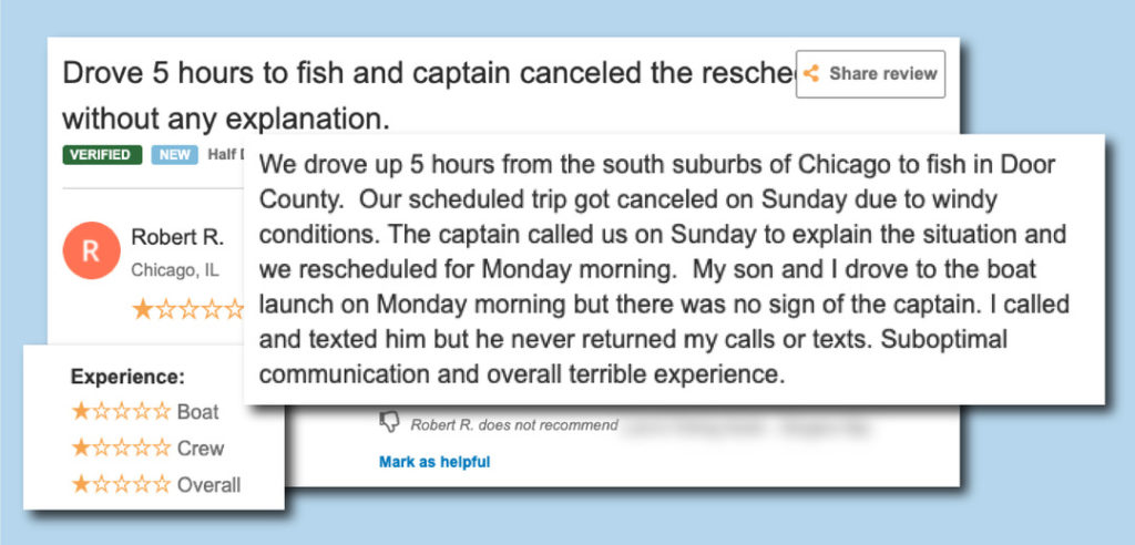 Rescheduling outside of FishingBooker 01
