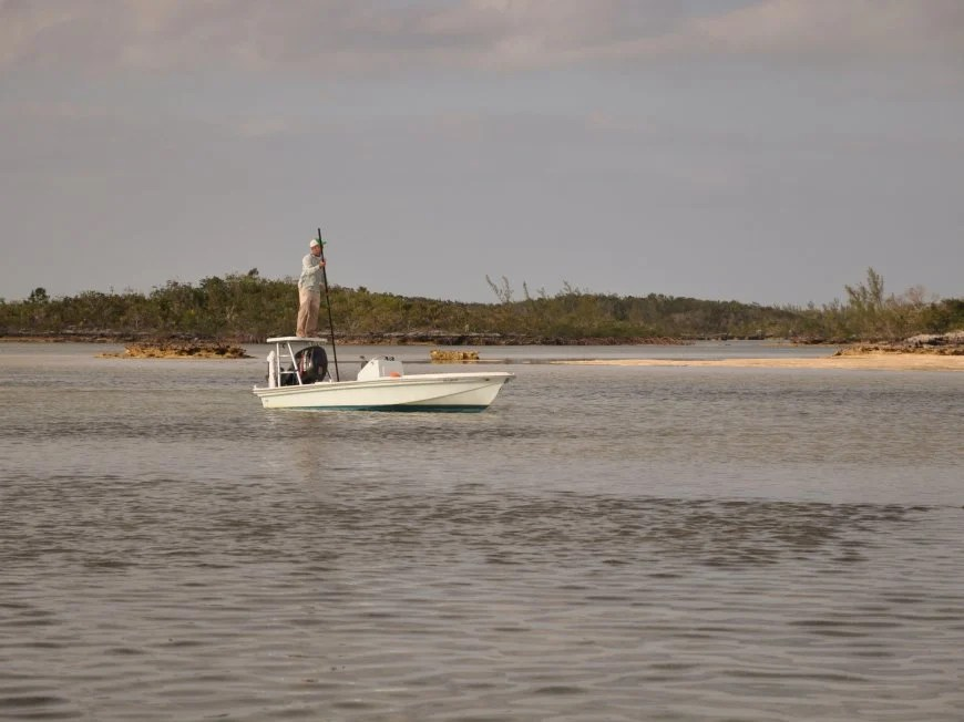 Permit Fishing boat on the flats