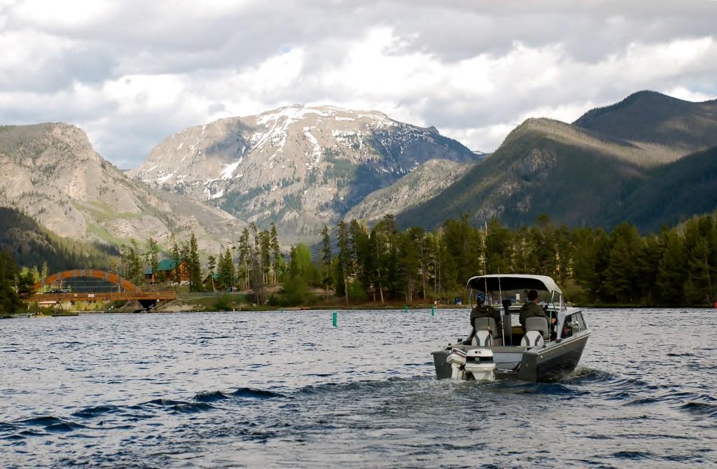 a fishing boat cruising the waters