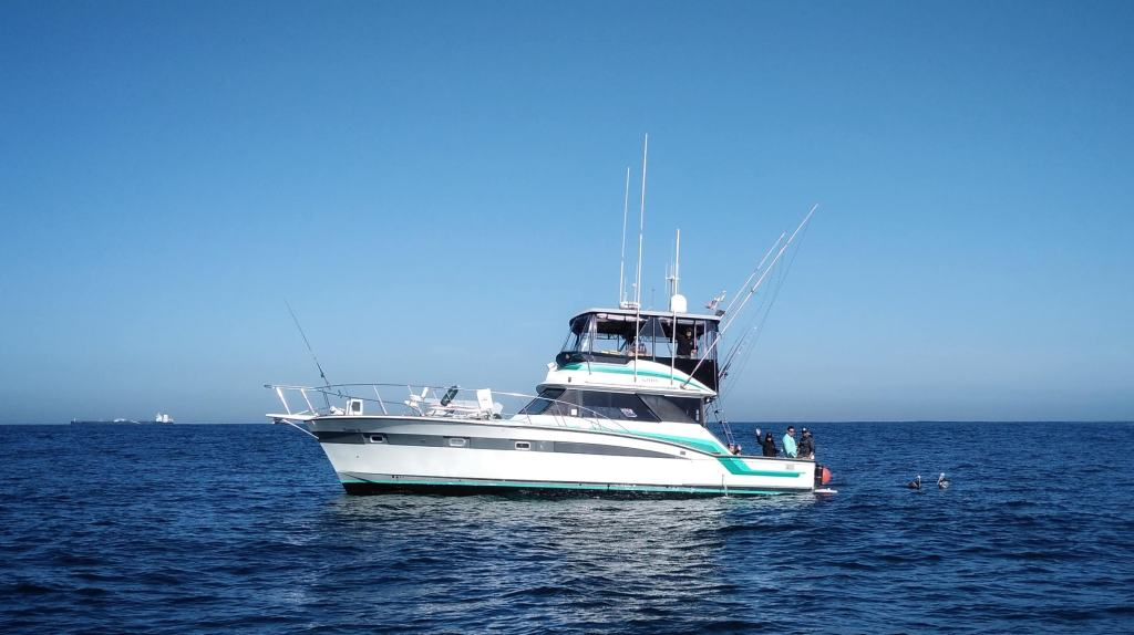 a luxury offshore fishing boat