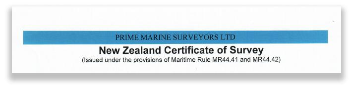 Certificate of survey