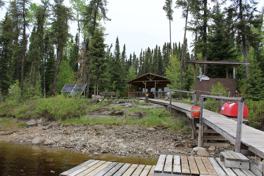 A remote fly-in fishing outpost in Ontario