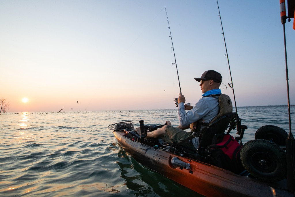 An angler kayak fishing in Florida