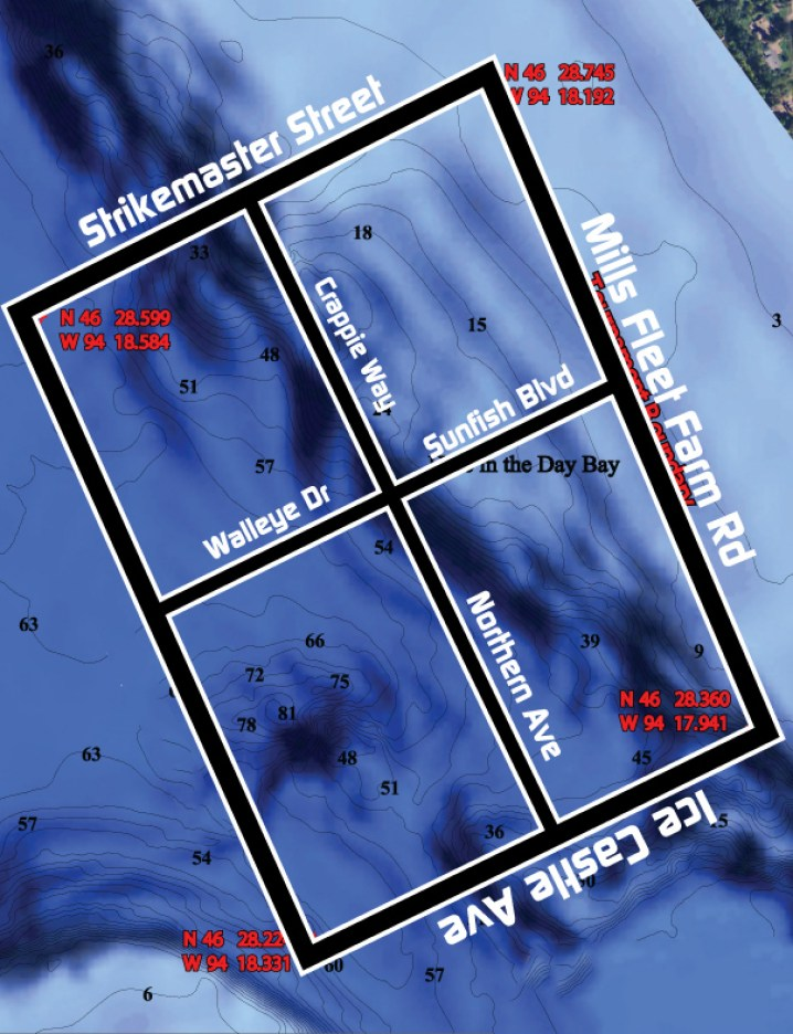Lake Brainerd map