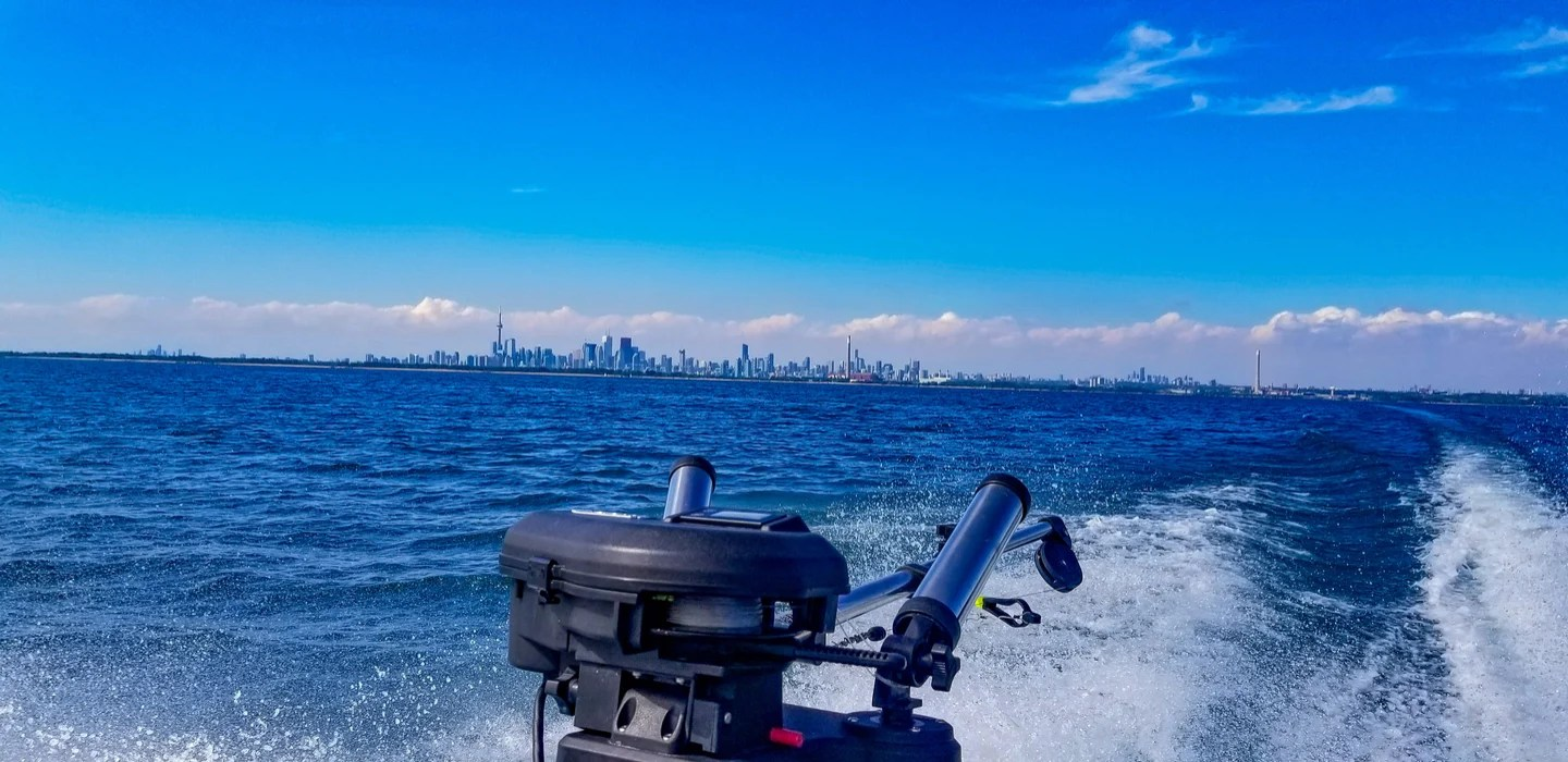offshore fishing on Lake Ontario gives a spectacular view of Toronto