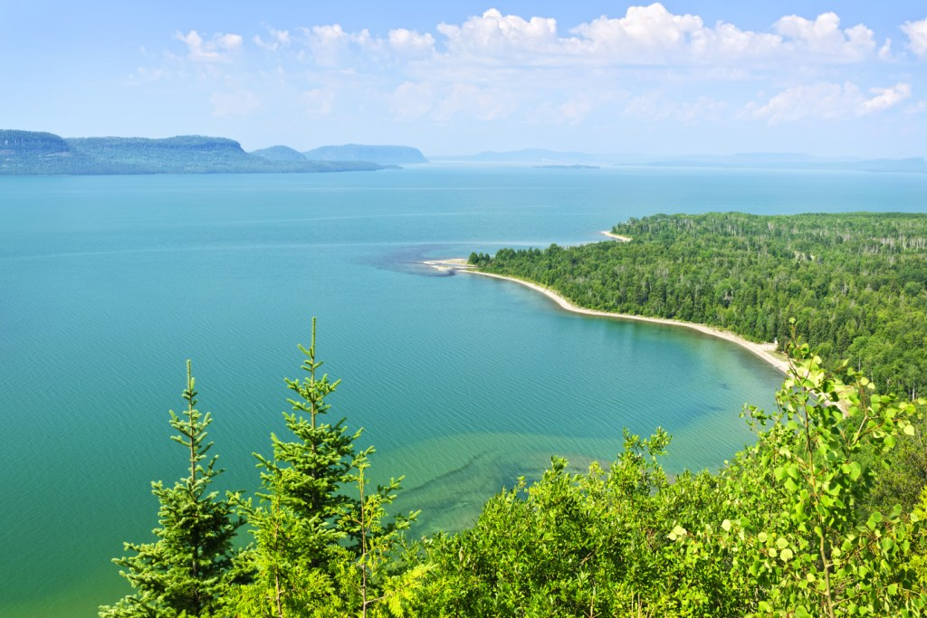 areal view of lake superior