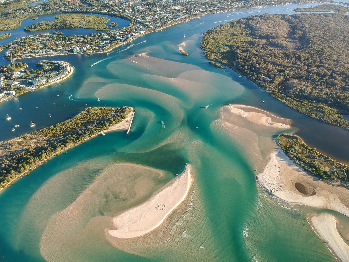an areal view of Noosa
