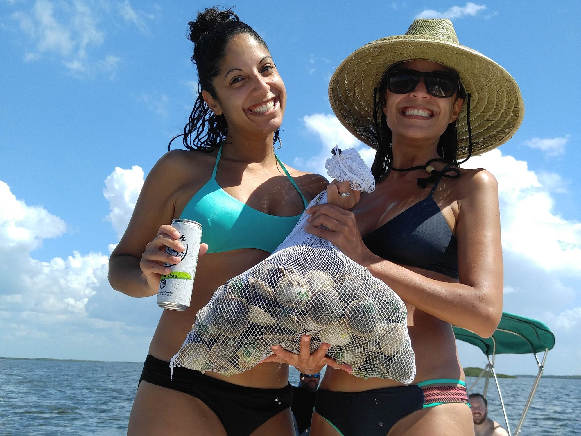 Showing of the catch after a successful scalloping trip