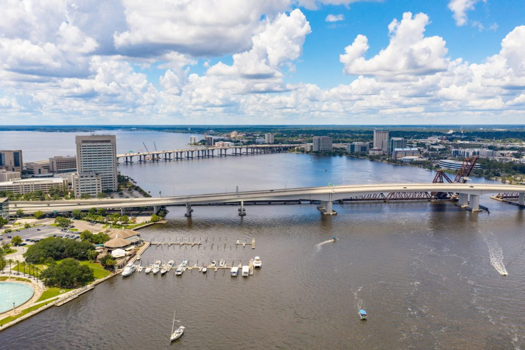 A view of the St Johns River at Jacksonville