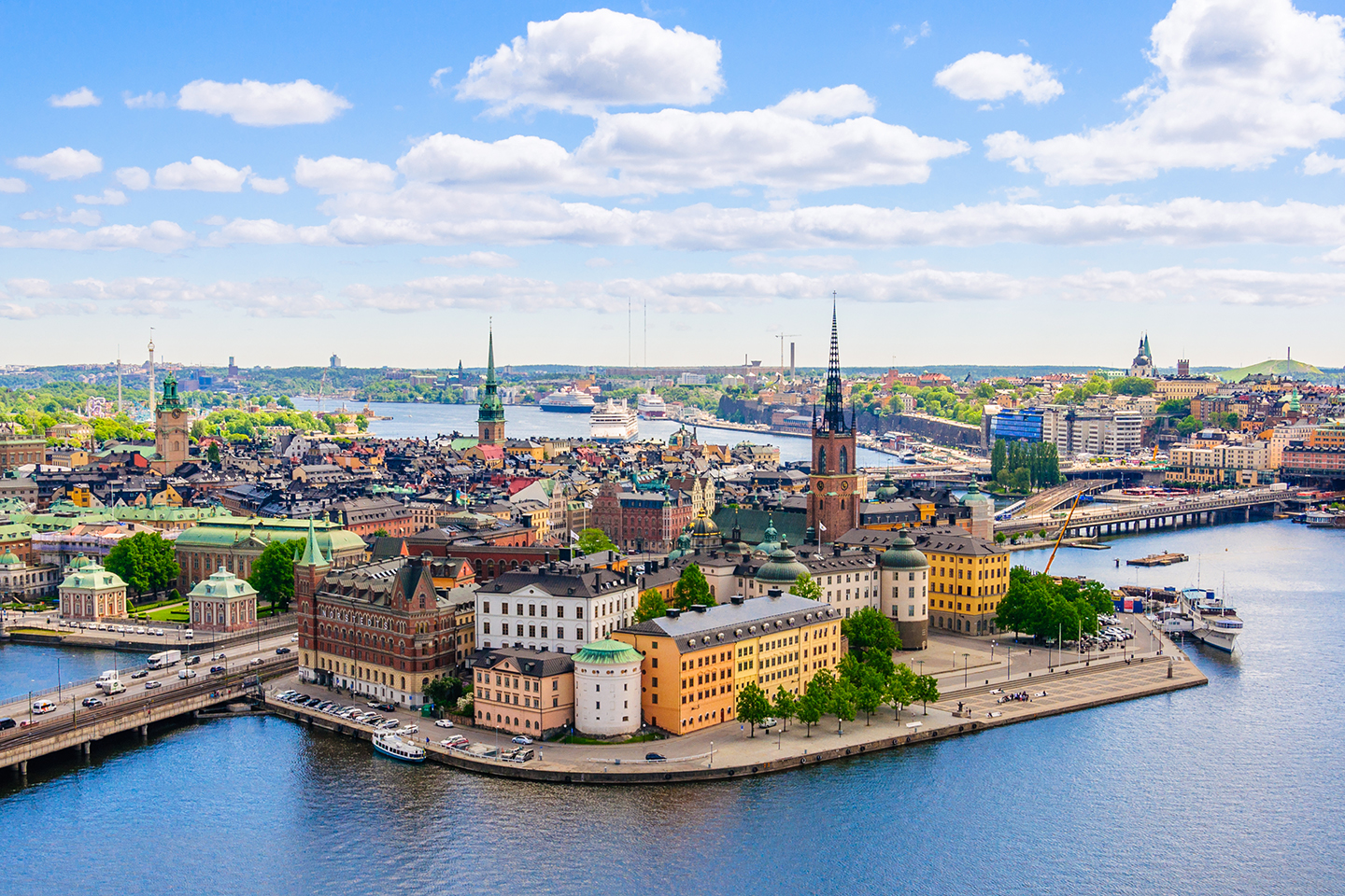 A view of the old centre of Stockholm, Sweden. Stockholm is a classic city break destination and also one of the best places for fishing holidays in Europe.