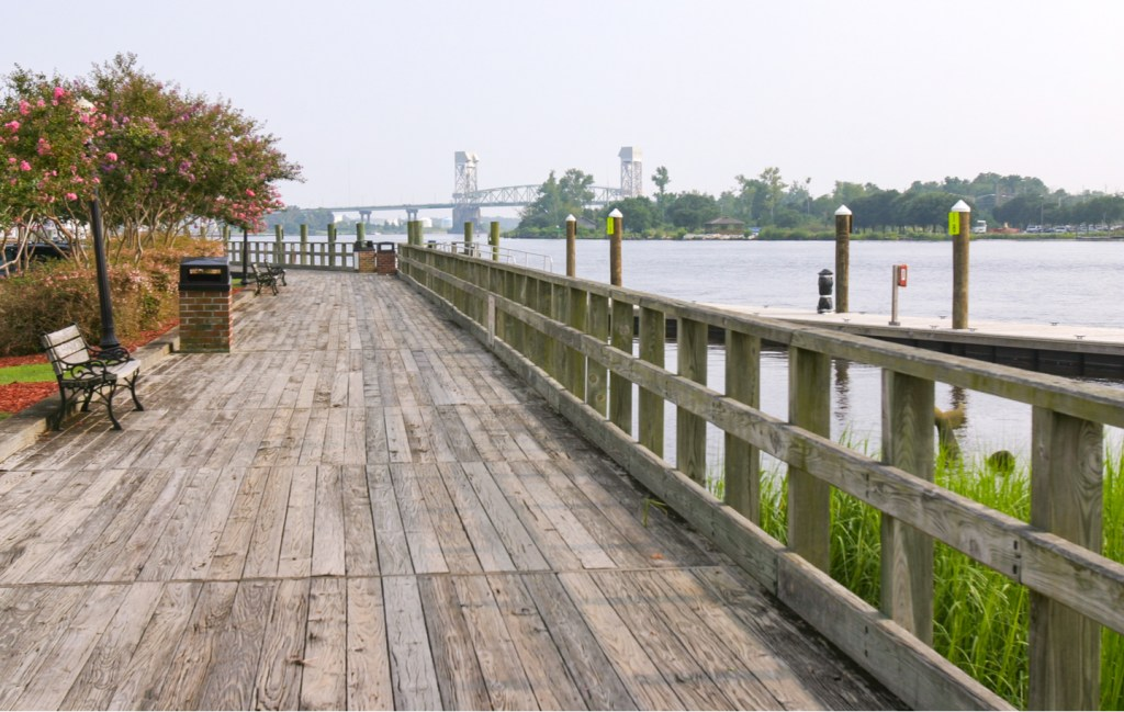 The Broadwalk in Wilmington, North Carolina