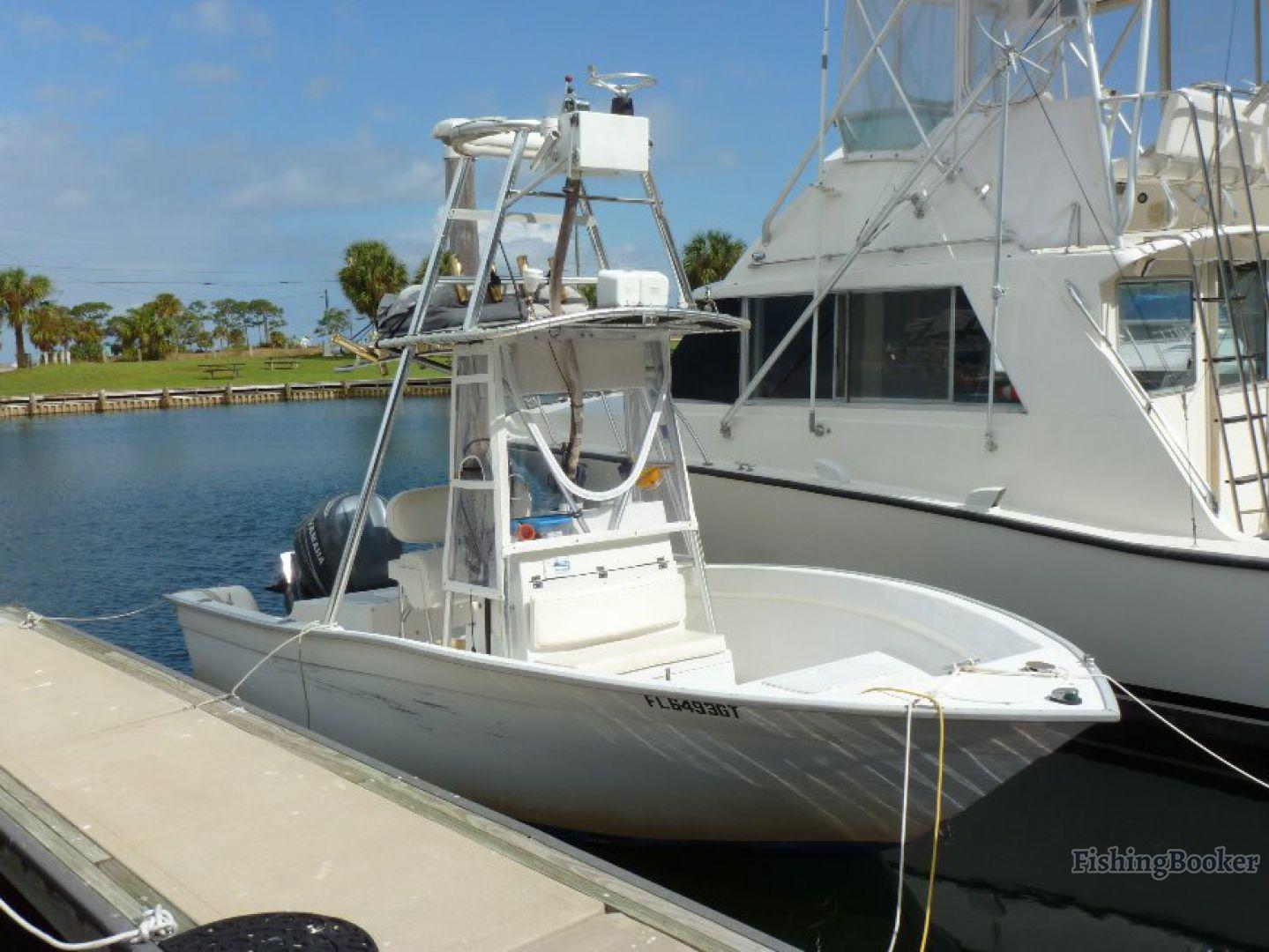 a center console boat