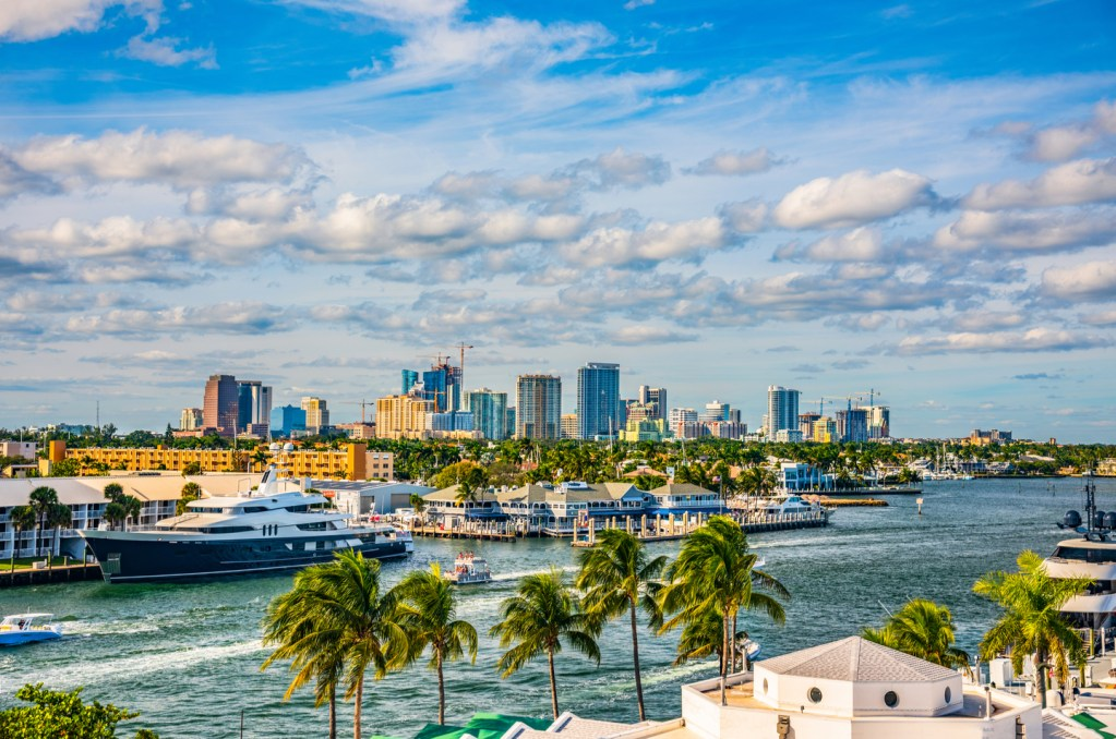 a view of the fort lauderdale waterways