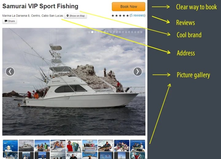 a picture of what a perfect fishing charter page looks like