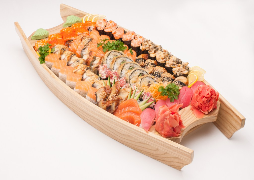 a sushi plate