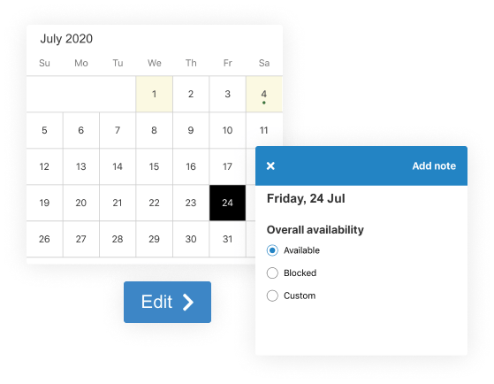 update and view your calendar
