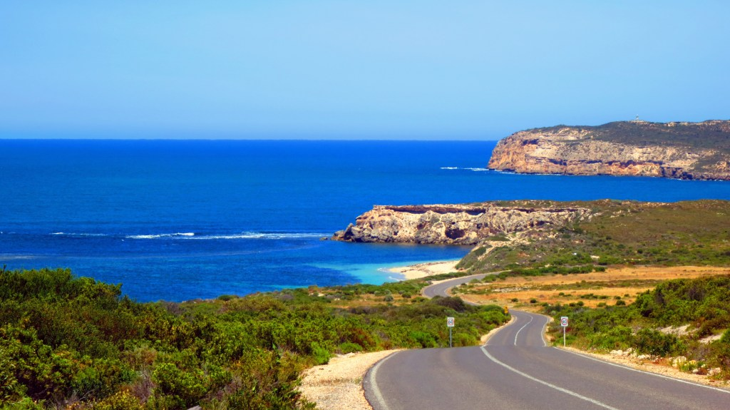 a view of the coast and sea from Yorke Peninsula in South Australia