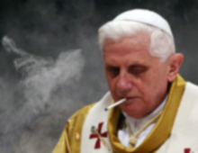 Pope Benedict Smoking