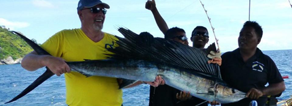 Sailfish caught in Phuket waters