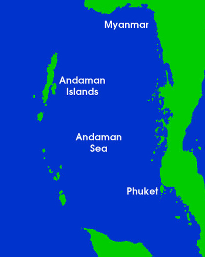 map of the Andaman Islands
