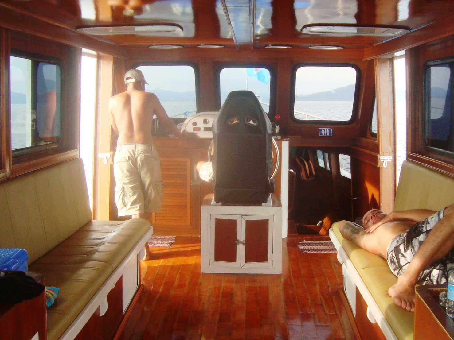 Relaxed fishing trip