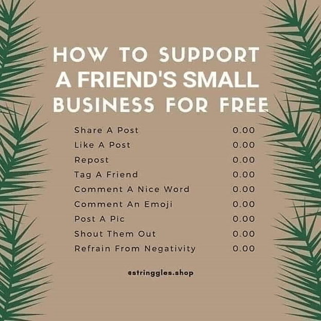 How to support a friend's small business for free