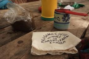 Medium-roast Kasama Coffee every morning