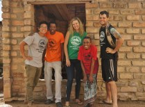With the awesome staff at Nkupi Lodge -- we bought t-shirts!