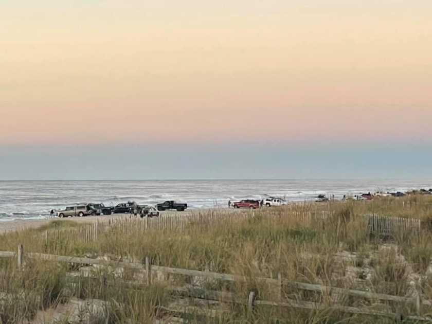 Sandra Lee took this sunrise photo of the surf anglers lined up for the World Series of Surf Fishing Tournament.