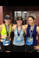 Stacey Ellerman with Terri Godsey and Kylee Updike at the Hospital Hill Half Marathon.